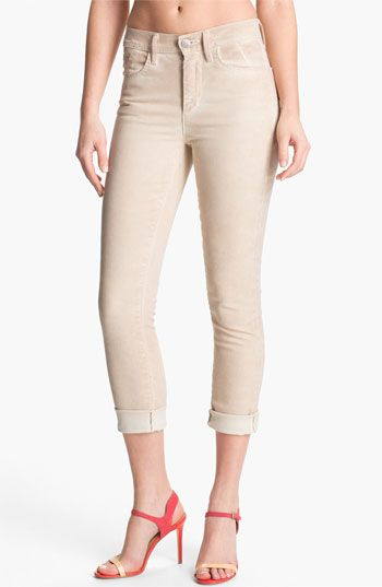 Goldsign 'Jenny' High Waist Crop Skinny Jeans (Cream) | Nordstrom