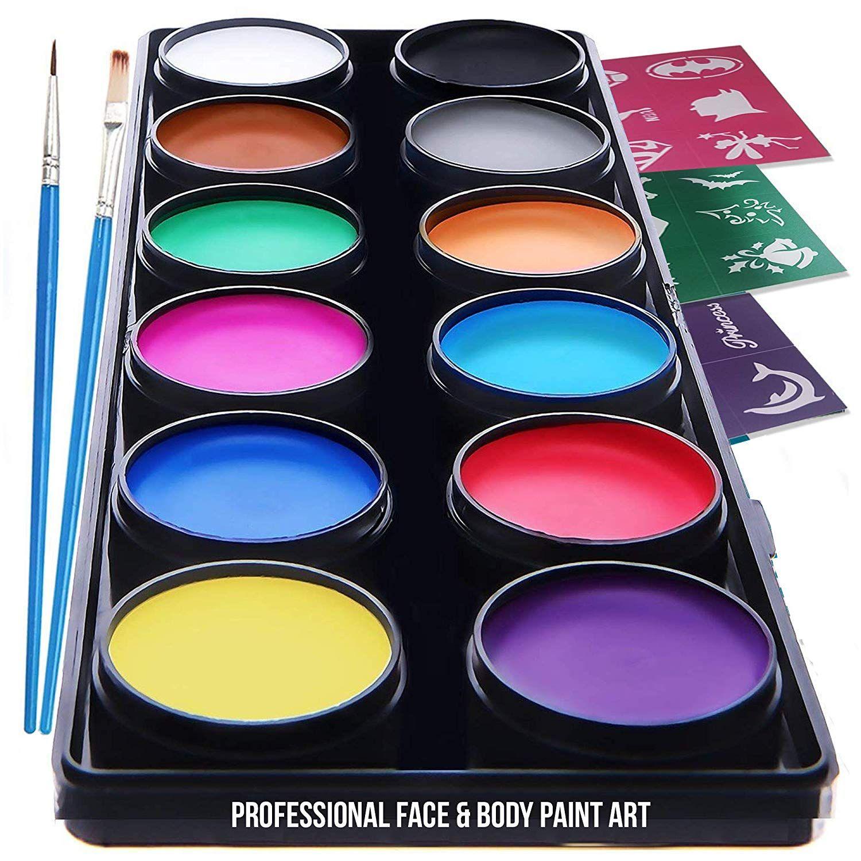 Halloween Face Makeup NOVA Premium Face Paint Kit for