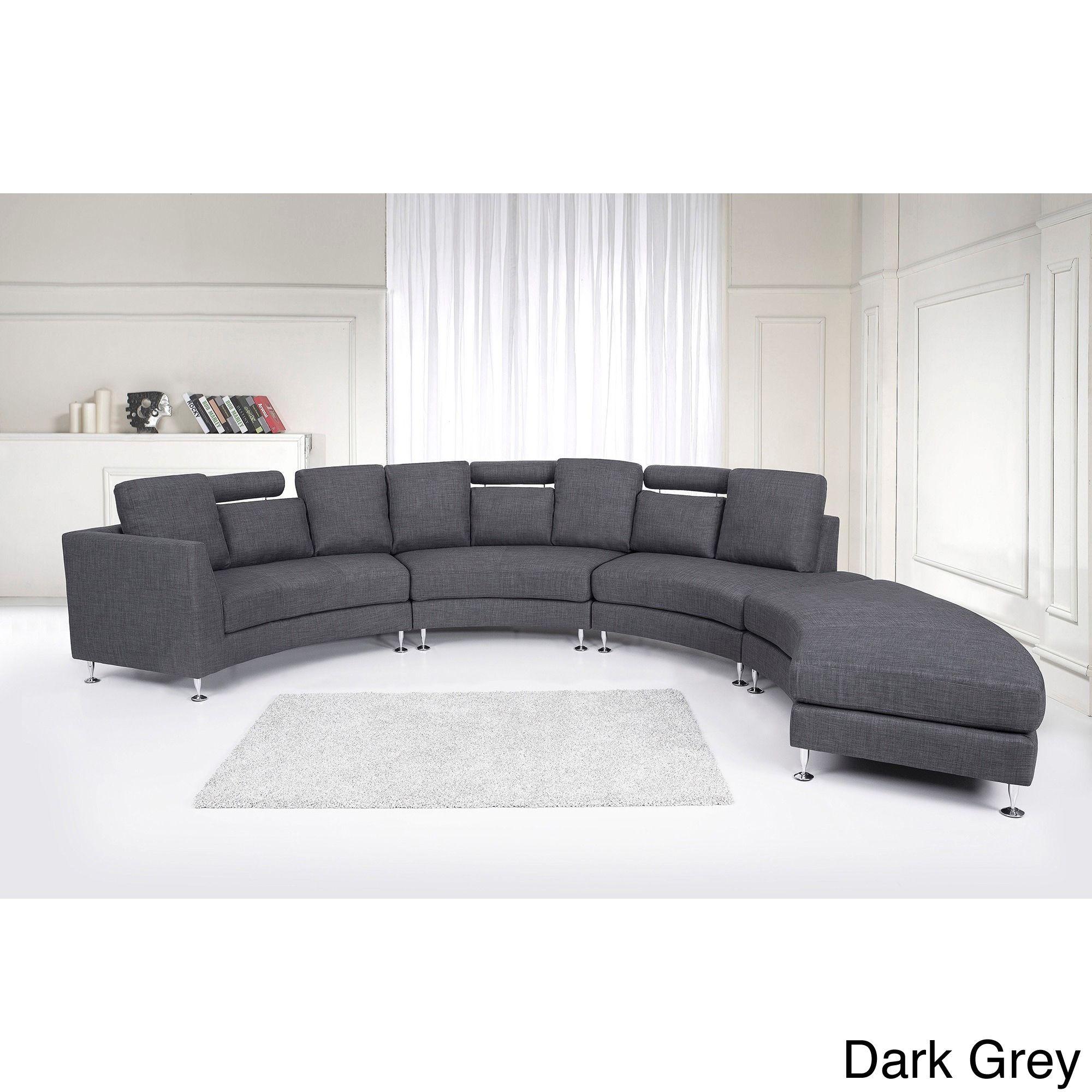 Living Room Furniture Free Shipping Beliani Rotunde Round Fabric Sectional Sofa By Velago Modular