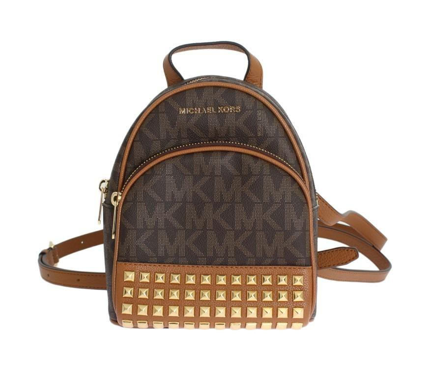 588c5c7be8 Michael Kors Brown Abbey Leather Xs Backpack Handbag  Michael Kors ...