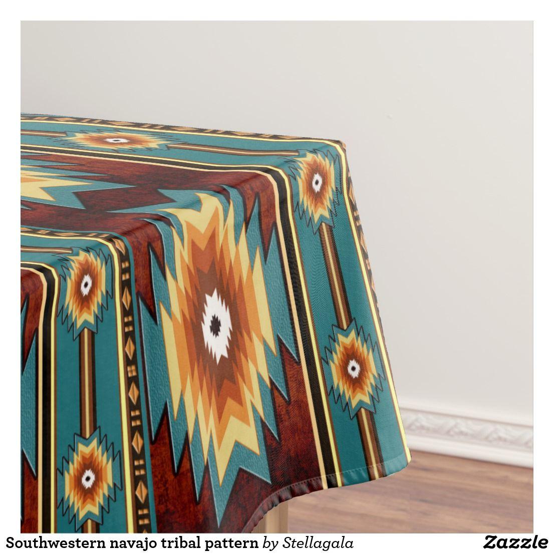 Southwestern Tribal Pattern Tablecloth Zazzle Com Tribal