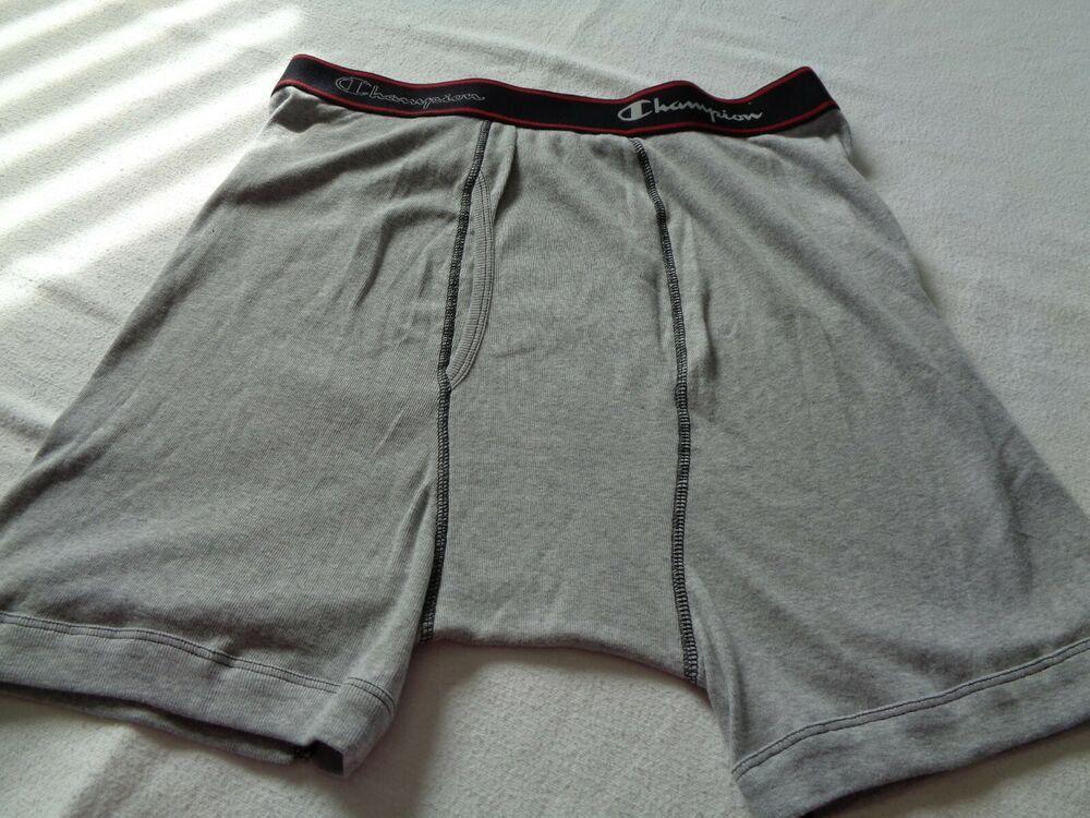 2472b8d78904 MARKDOWN ! Men's CHAMPION Underwear New Boxer Sz L (36- 38) Lt.Gray ...