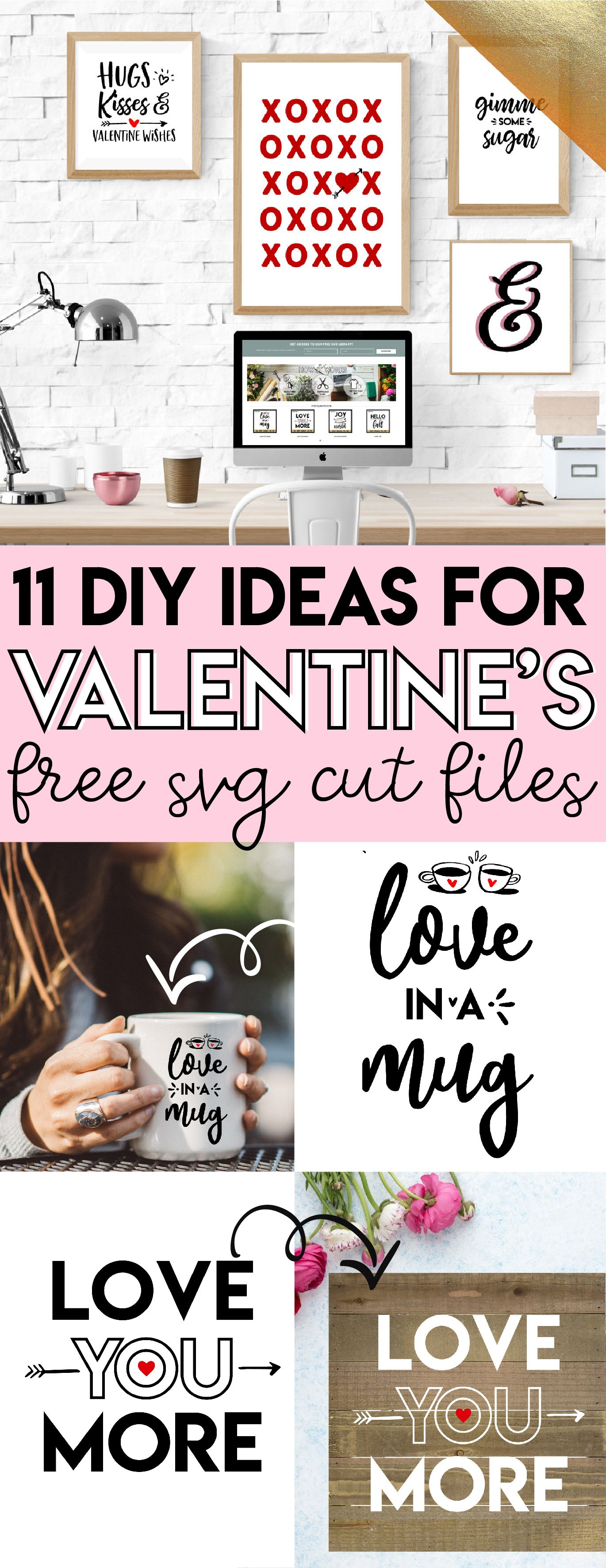 Free designs to make all these DIY Valentine\u0027s Day ideas! I really ...