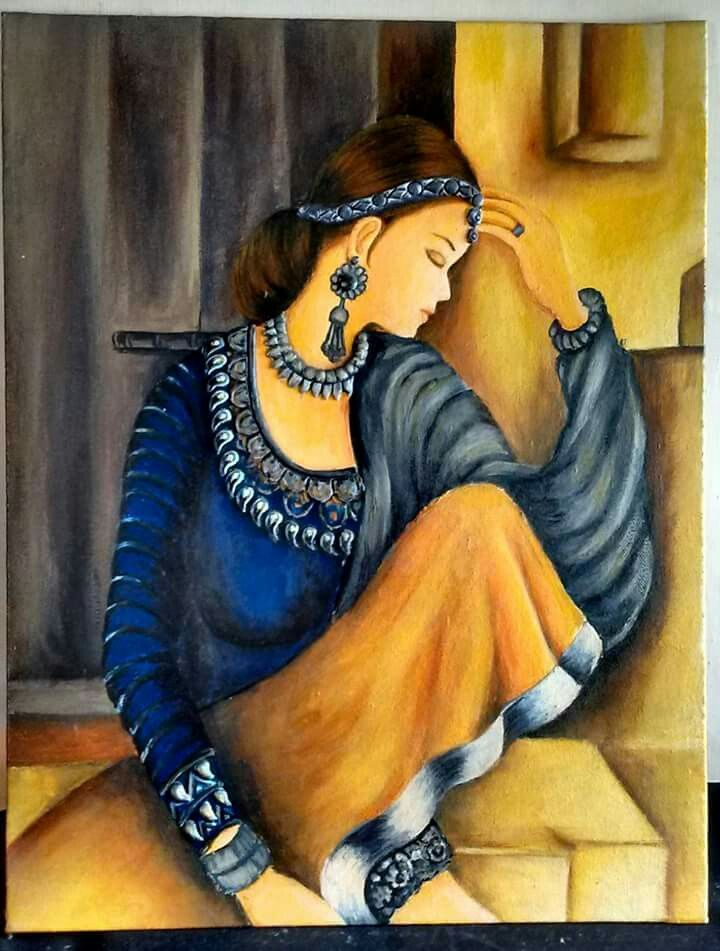 Coffee Painting Hindu Art Human Figures Indian Paintings Oil Pastels Acrylic Images
