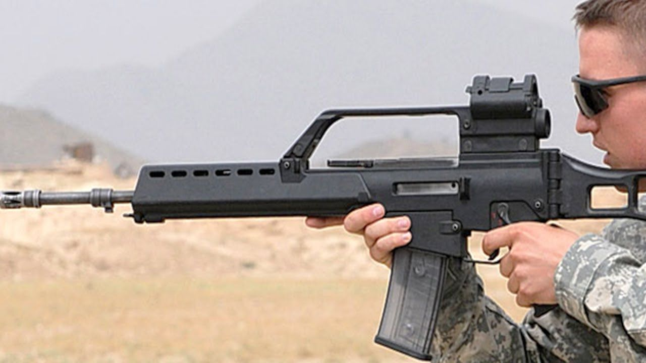 US Soldiers Learning to Fire the Great German HK G36 Rifle