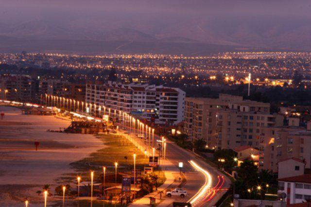 Avenida Del Mar De Nocheee Santiago De Chile Turismo La Serena Chile