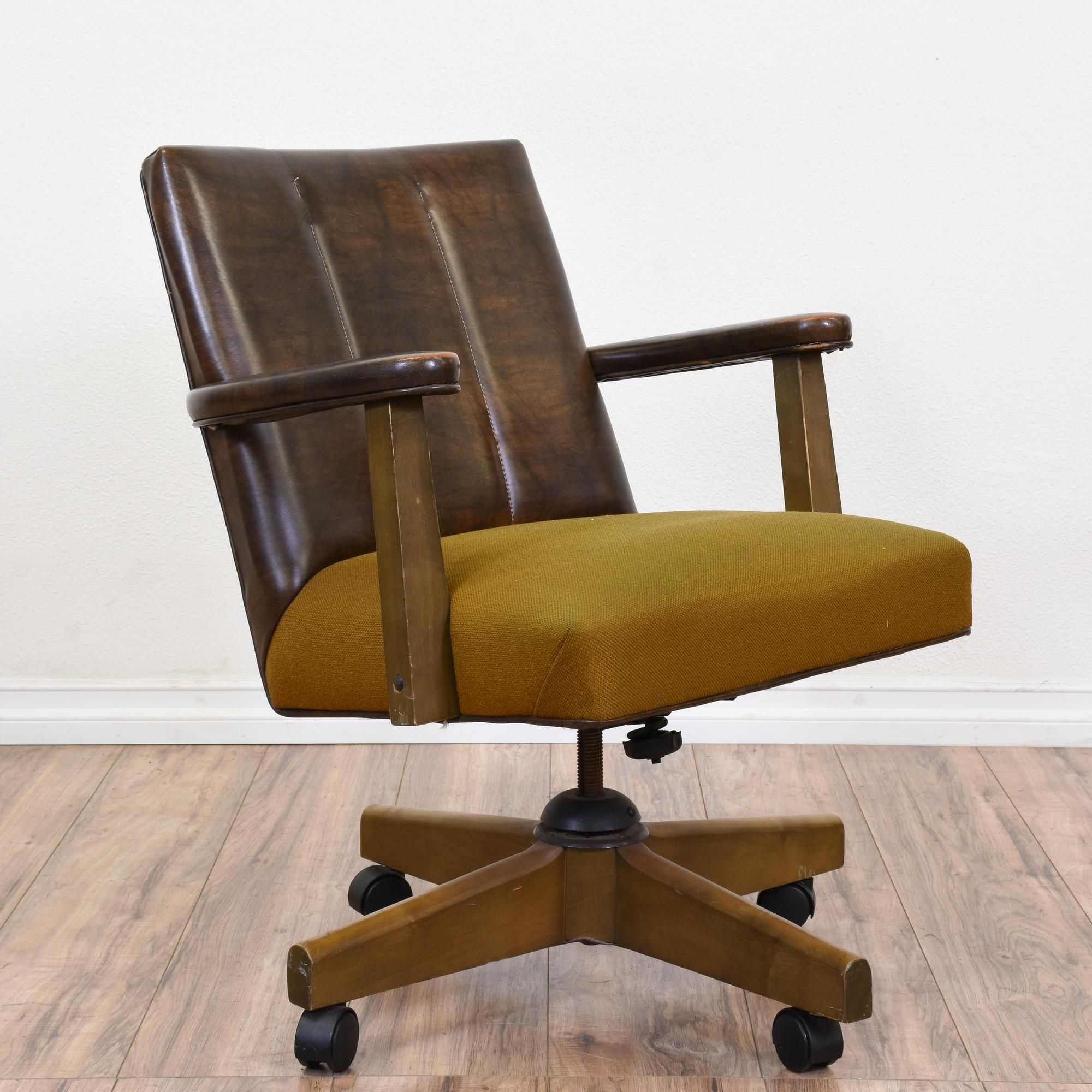 Office Chairs With Arms And Wheels Retro Mid Century Modern Rolling Office Chair Modern Office