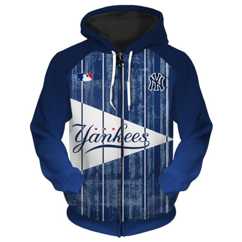 16 Off Mlb New York Yankees 3d Men S Hoodies With Zipper Sweatshirt J 4 Fan Shop Team Hoodies Cool Hoodies New York Yankees