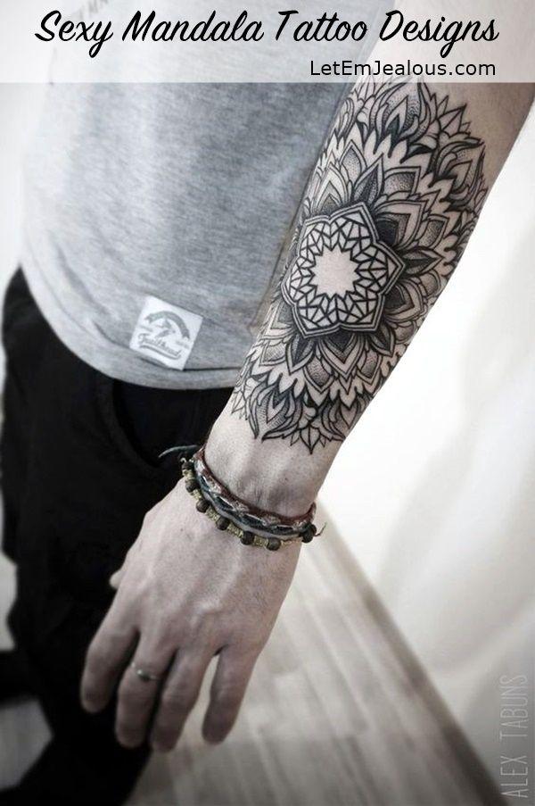 Forearm Mandala Tattoo Male