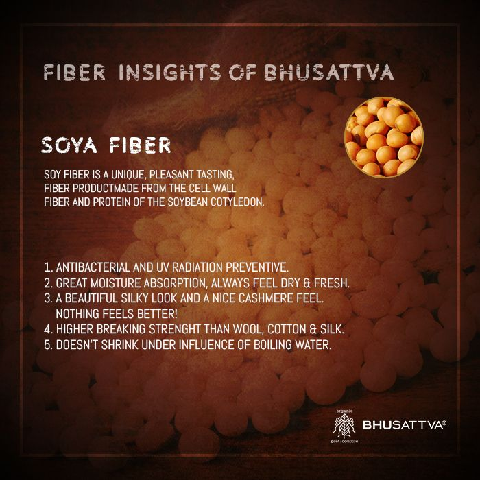 Compared to animal proteins, plant proteins are absorbed by the human body more easily without side effects.  This exclusive plant protein fiber possesses health care and nursing functions. Hence, Bhusattva only uses the natural. #OrganicFashion #Soya #Fiber #Natural #Style