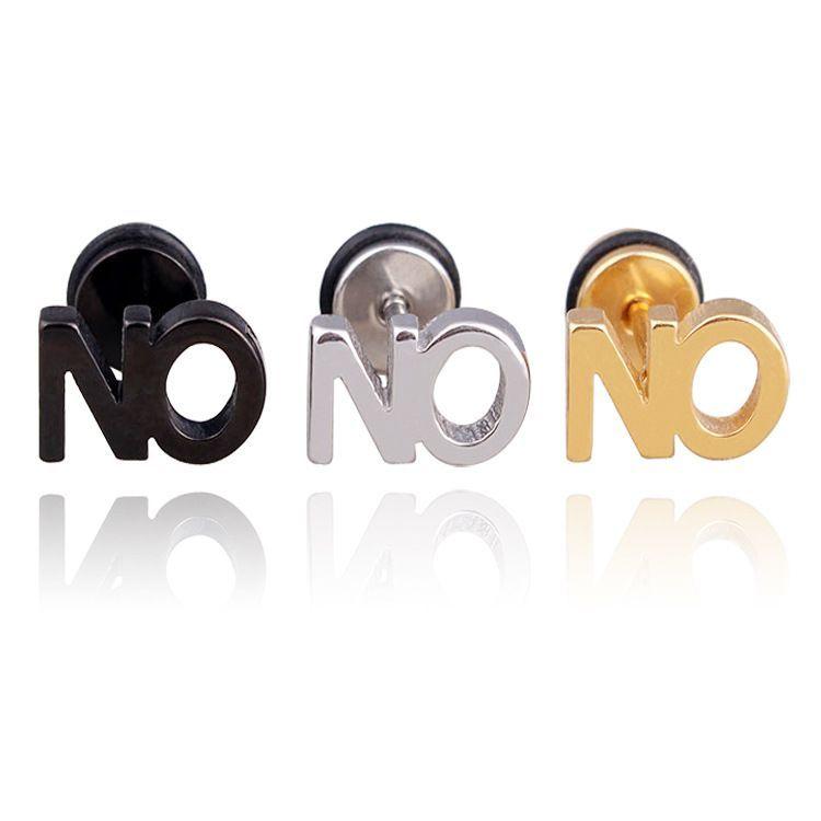 Steel Letters For Sale Sale 27% 299$  1Pc Titanium Steel Letters Word No Punk Women