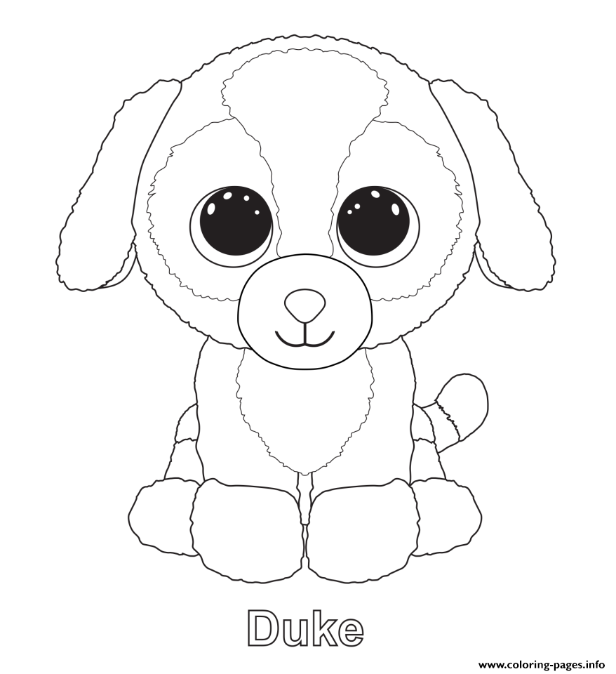 Print Duke Beanie Boo Coloring Pages Dog Coloring Page Beanie Boo Birthdays Baby Coloring Pages