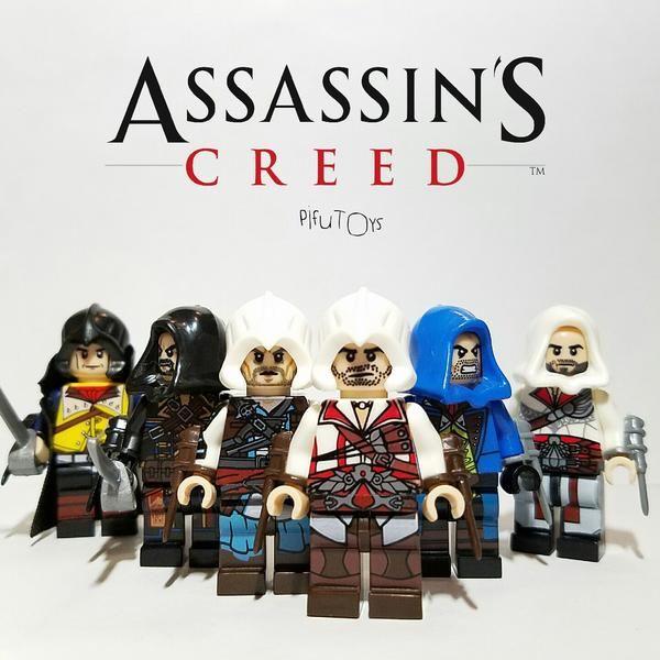 Assassin S Creed Lot De 6 Minifigures Compatible Lego