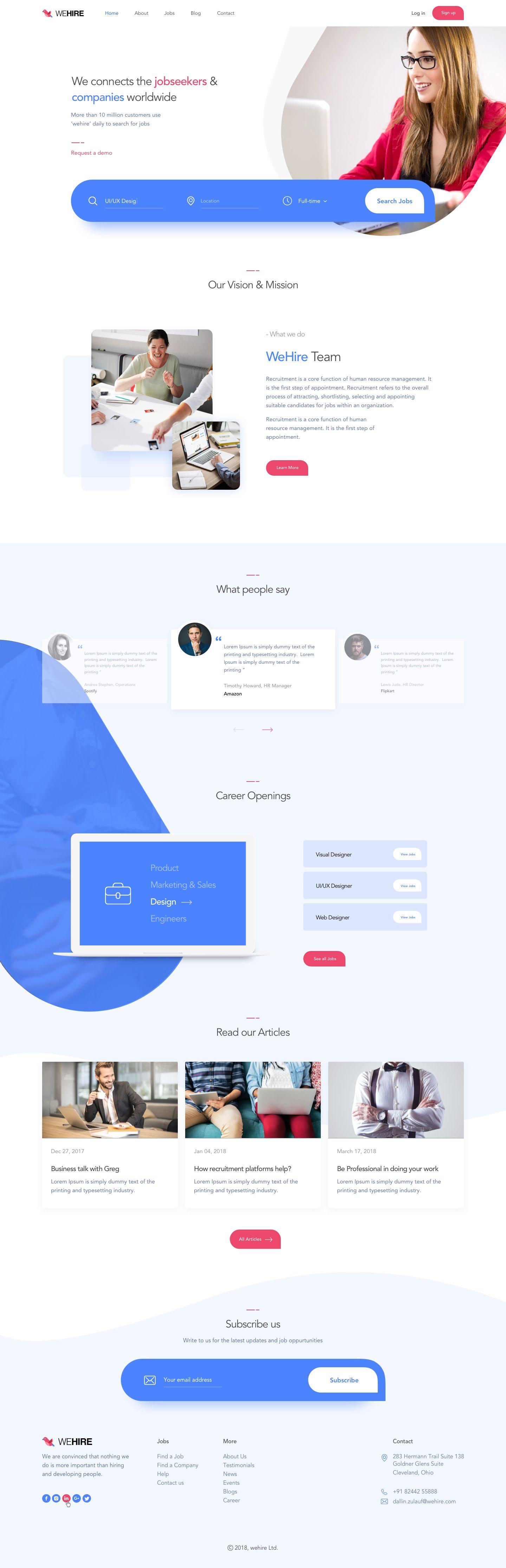 Recruitment Attachment Corporate Web Design Recruitment Website Design Startup Design