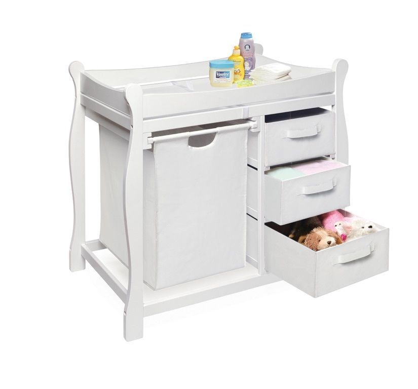 Baby Furniture Changing Table Diaper Storage Nursery Station 3