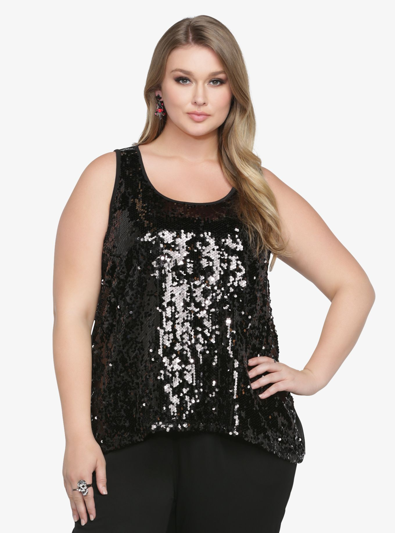 sequin tank top | torrid size 2 | wish list | pinterest | sequin