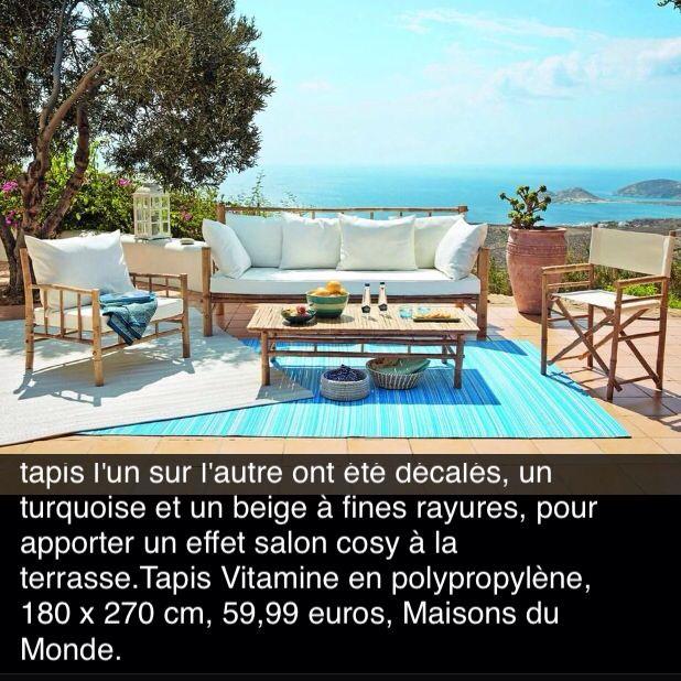 tapis d 39 exterieur maisons du monde 180x270 60 jardin. Black Bedroom Furniture Sets. Home Design Ideas
