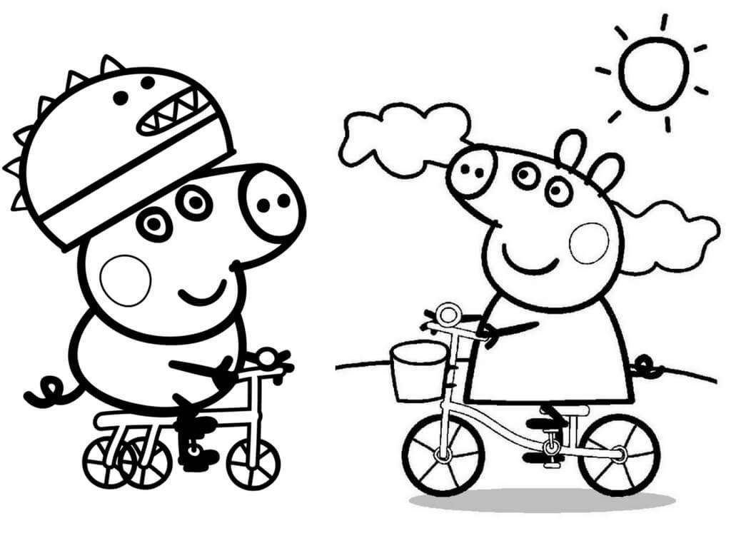 George Pig And Peppa Pig Coloring Page Ausmalbilder Malvorlagen Ausmalbilder Zum Ausdrucken
