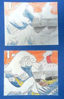 "Artful Artsy Amy: Lesson Plan: Remixing ""The Great Wave Off Kanagawa"""