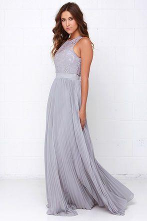 74a5da69bd Gorgeous Grey Dress - Lace Dress - Maxi Dress - Backless Dress - $75.00