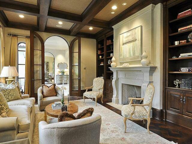 Living Room With Fireplace And Tv On Different Walls the front wall. but a tv over fireplace. chocolate cabinetry and