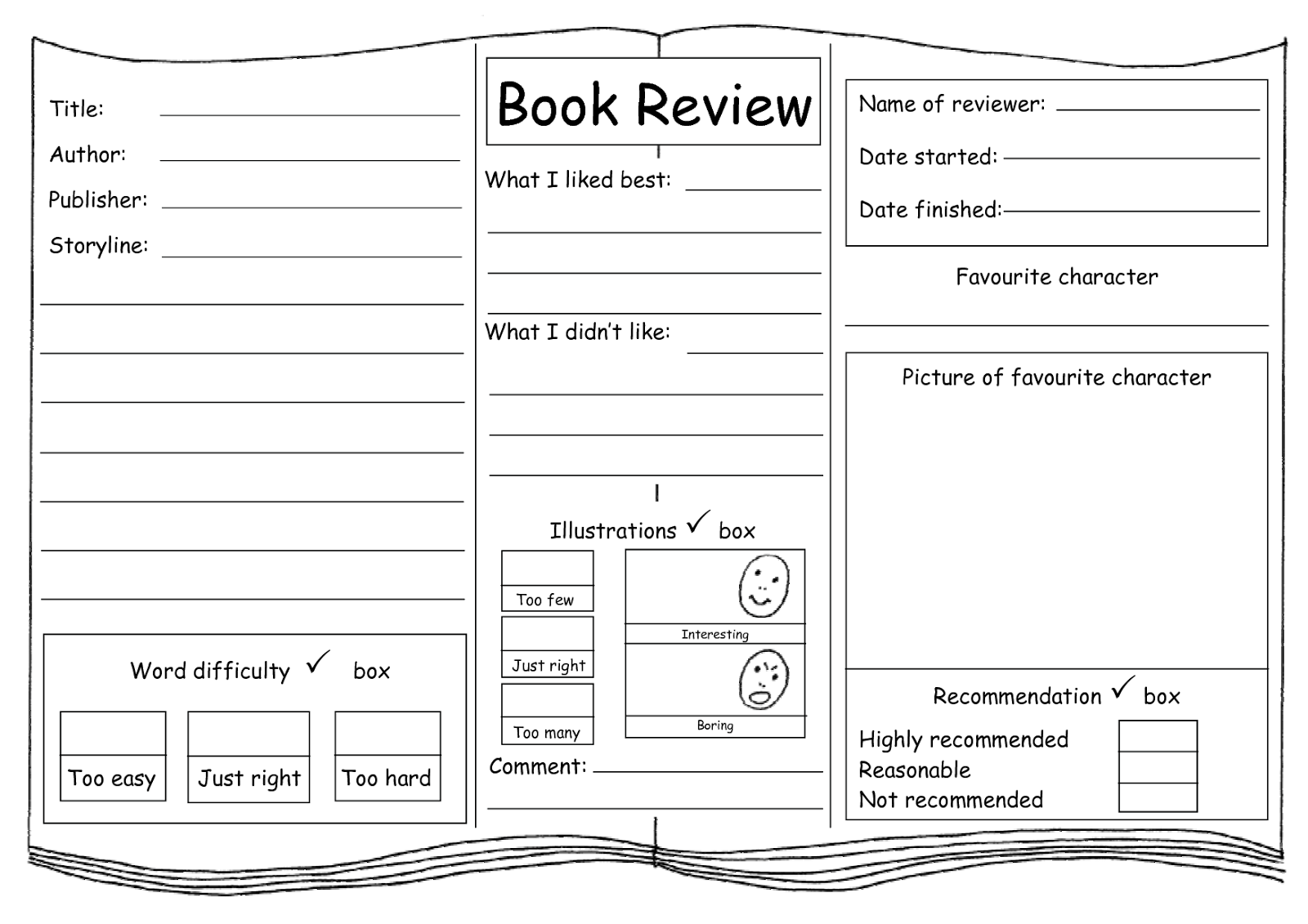 templates for writing a book Writing a book report book reports can take on many different forms three types of effective book reports are plot summaries, character analyses, and theme analyses.