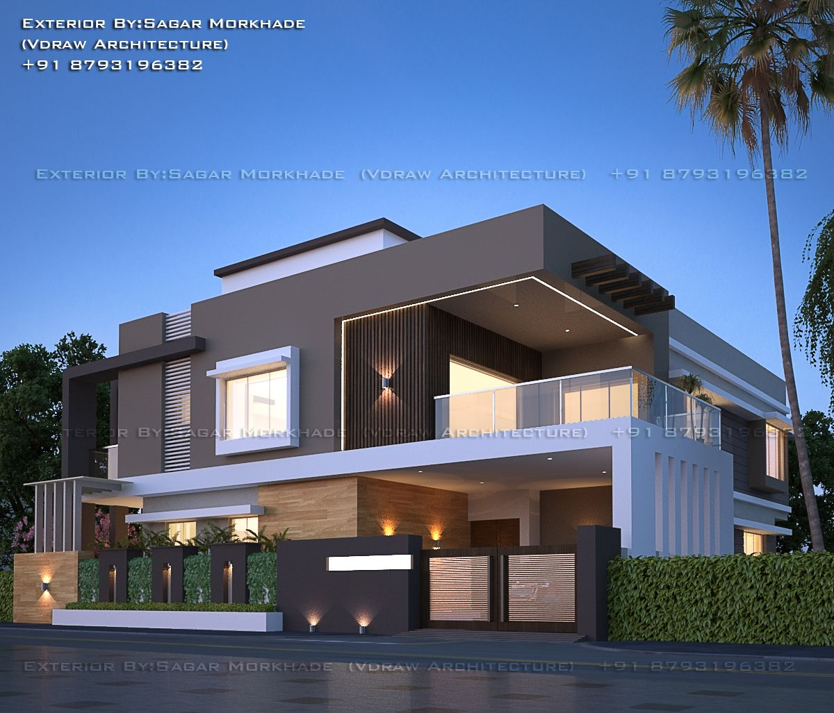 Minimalist Exterior Home Design Ideas: #Modern #Residential #House #bungalow #Exterior By, Ar