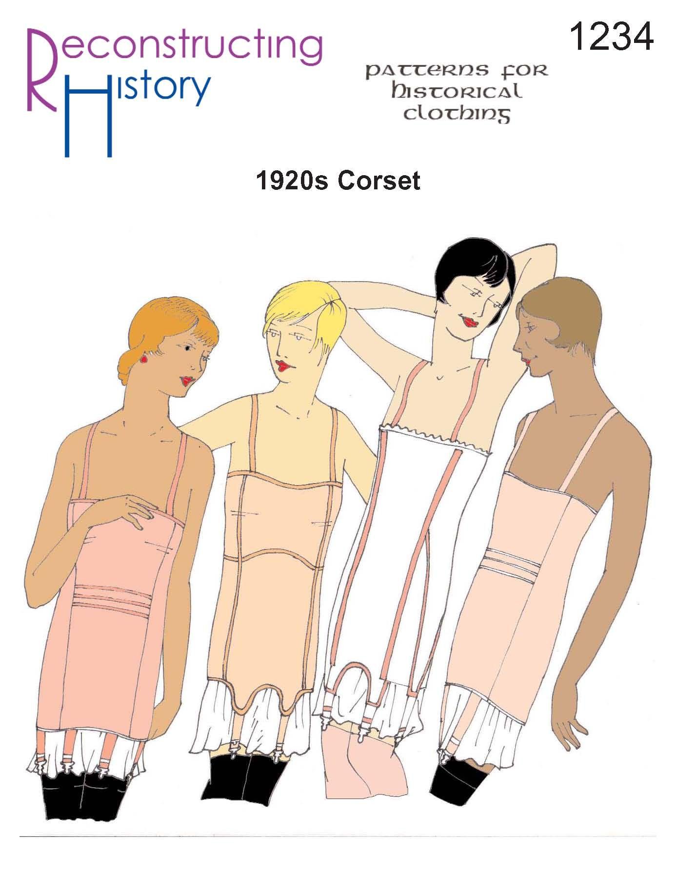 1920s corset pattern   flapper corset pattern   Roaring Twenties ...