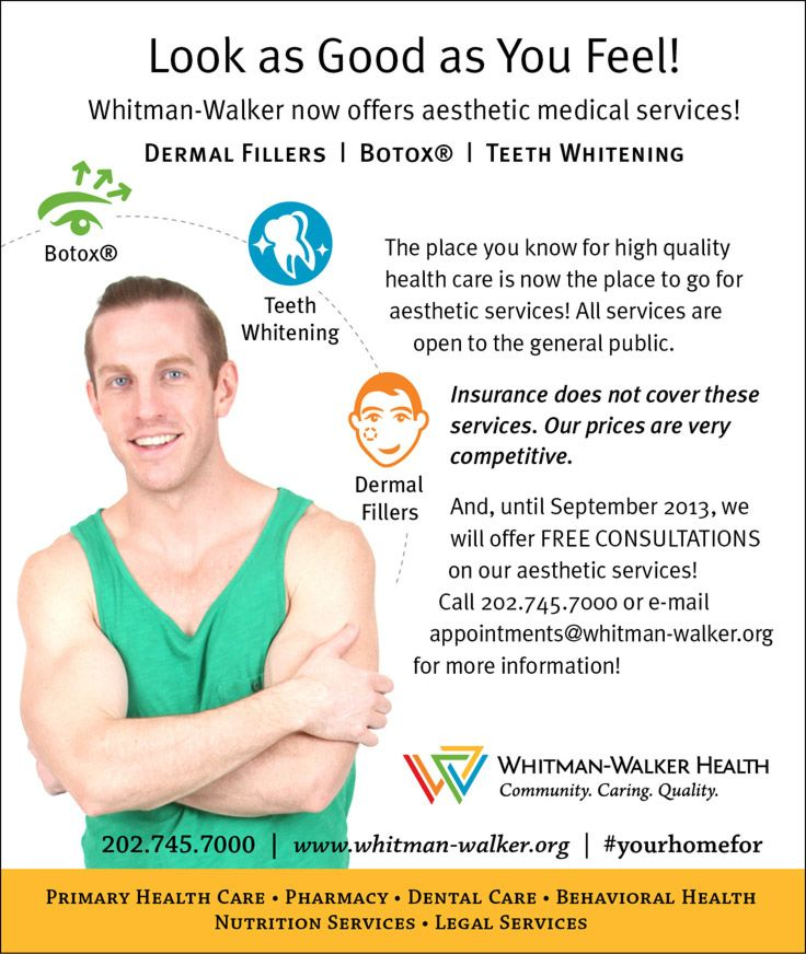 Ad Promoting Aesthetics Medical Services At Whitman Walker Health