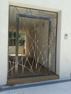 Création Porte Grille En Fer Forgé Sur Mesure Modèle Eva Pinteres - Grille porte