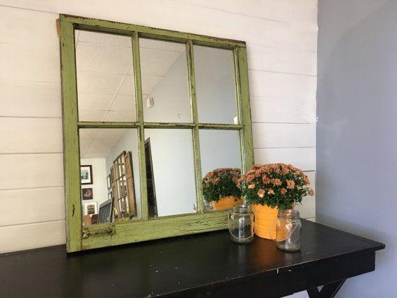 Green Mirror, Window Mirror, Home Decor, Decorating ...