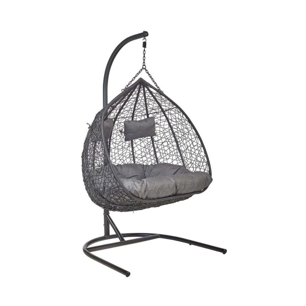 Fotel Wiszacy 2 Osobowy Moon 3 Antracytowy Hustawki Ogrodowe W Atrakcyjnej Cenie W Sklepach Leroy Merlin Hanging Chair Furniture Chair