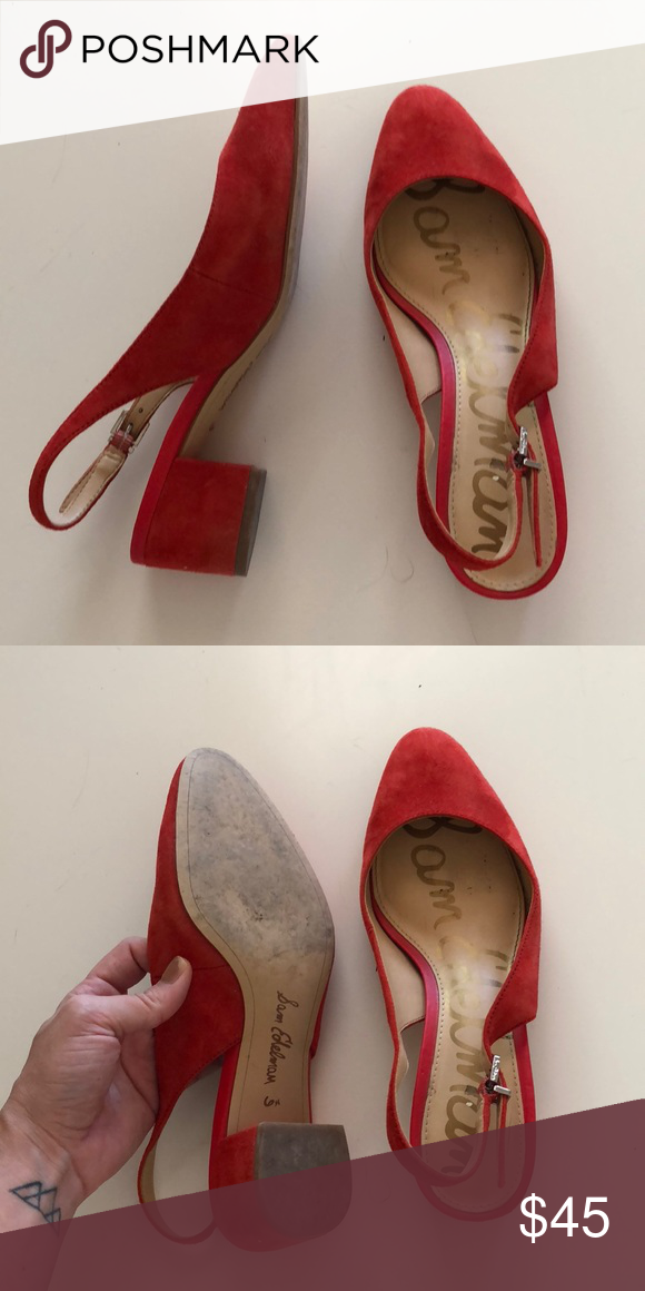 7837f8475e Sam Edelman Size 6.5 Lorene Suede Slingback Pump Great condition, barely  worn. Just don't reach for them as much as I thought I would.