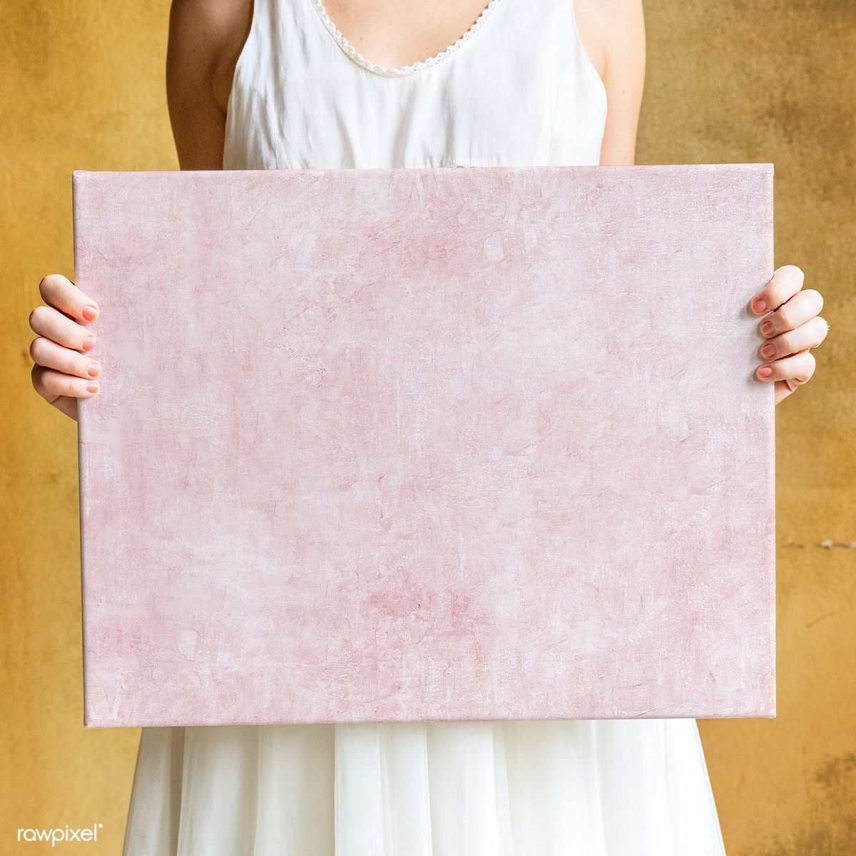 Download Premium Psd Of Woman Showing A Blank Canvas Mockup 1209286 Frame Mockups Canvas Red Photo Frames