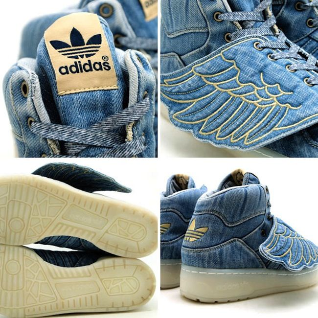 huge selection of de09d 804d0 Adidas JS Wings Denim x Jeremy Scott