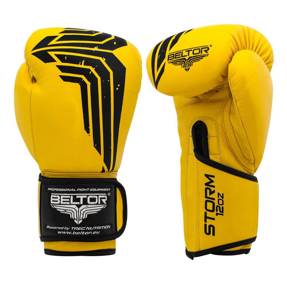 12oz Pro Training Gloves Boxing Glove for Muay Thai Kickboxing Sparring Punching