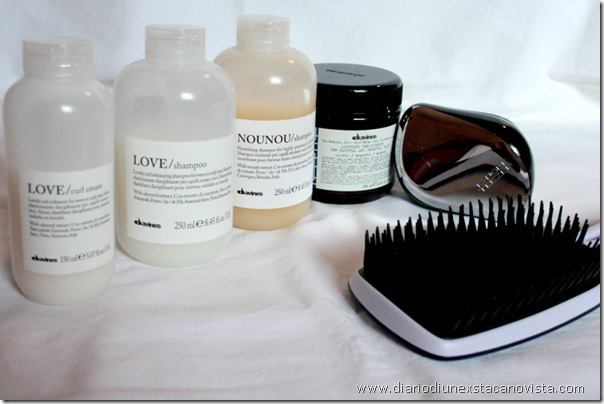 My haircare routine with Davines and Tangle Teezer