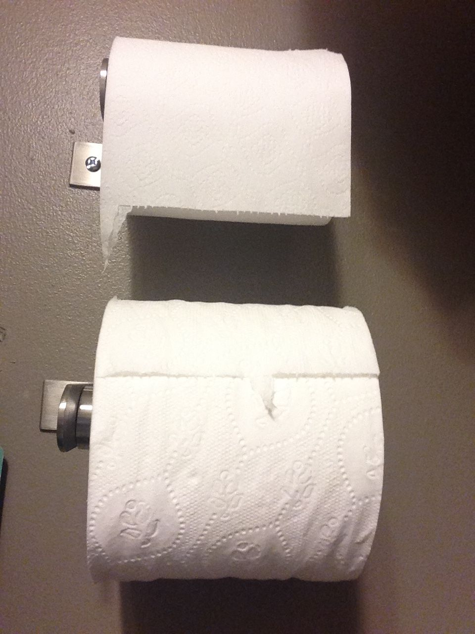 Fancy hotel: You even get to choose what grit of toilet paper you want to use.