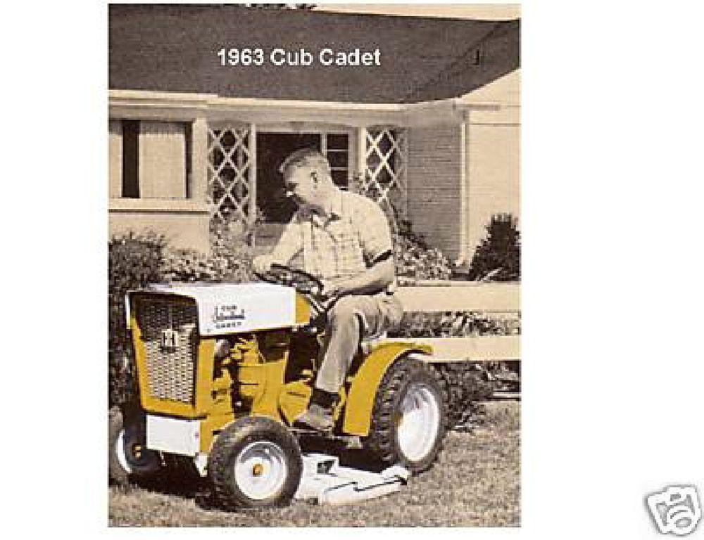 1965 INTERNATIONAL HARVESTER IH CUB CADET LAWN MOWER Vintage Look METAL SIGN