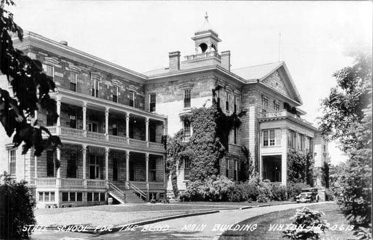 State school for the blind, Vinton Iowa, Mary Ingalls attended this school.