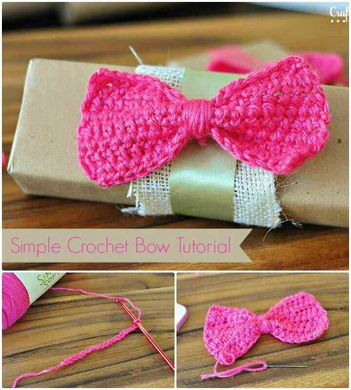 52 Free Crochet Bow Patterns #crochetbowpattern