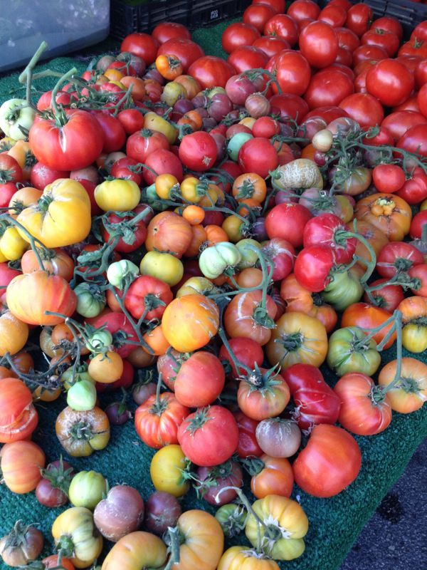 Have you been to the Santa Monica Farmers Market?  It is a great way to have a really wonderful day!  Fresh Heirloom Tomatoes at the Santa Monica Farmers' Market