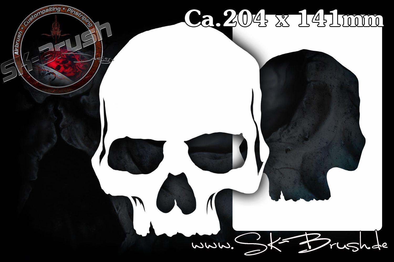 Airbrush Schablone für Schädel - Totenköpfe - Skulls | Airbrush ...