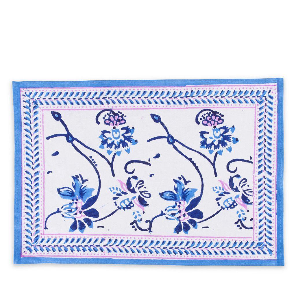 Floral VIne Placemat- Blue