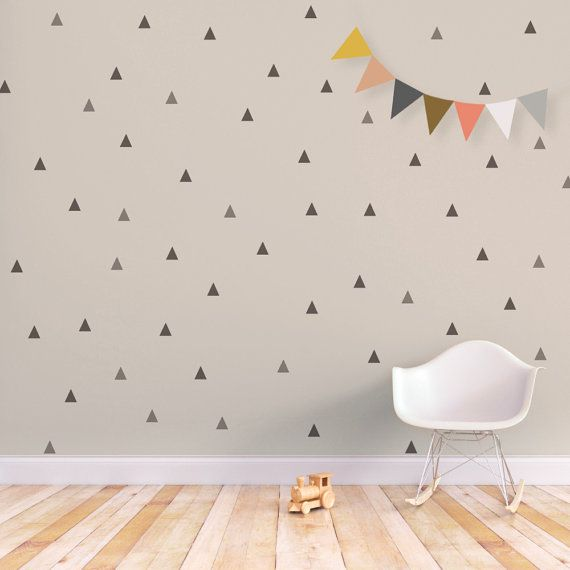 Triangle Wall Decal Baby Removable By Trendypeasdecals