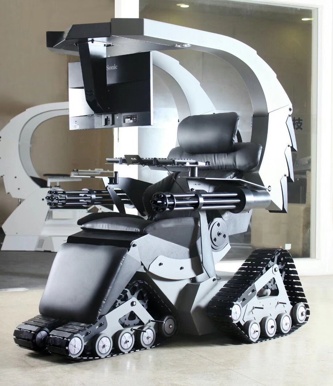 Most crazy PC gaming chair station of the world #gamingsetup PC Gaming setup of crazy idea and design from imperator works #gamingsetup