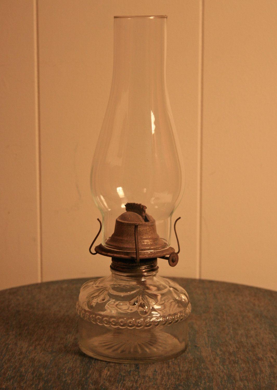 Vintage Oil Lamp   Kerosene Lamp   Turn Wick Dial