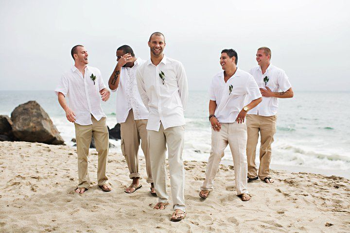 Beach Casual groom and groomsmen attire, photograph from Tybebe.com ...