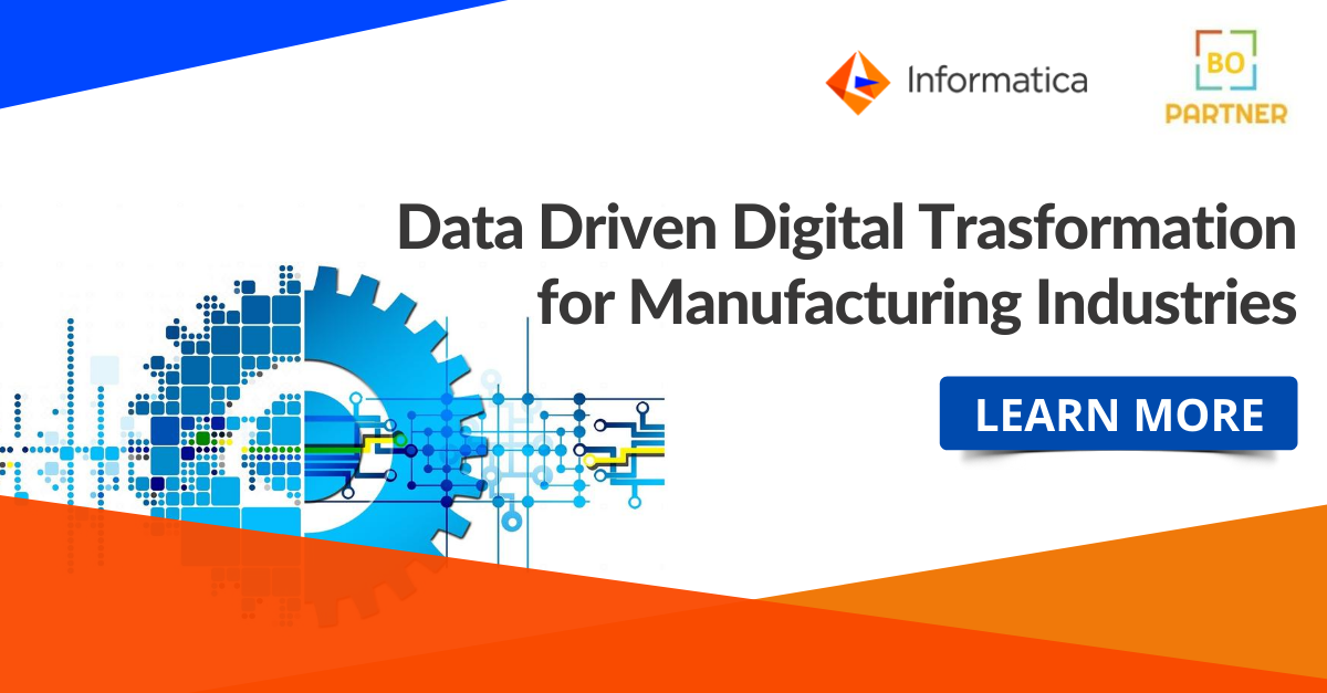 Data Driven Digital Transformation For Manufacturing Industries In 2020 Master Data Management Digital Transformation Cloud Data