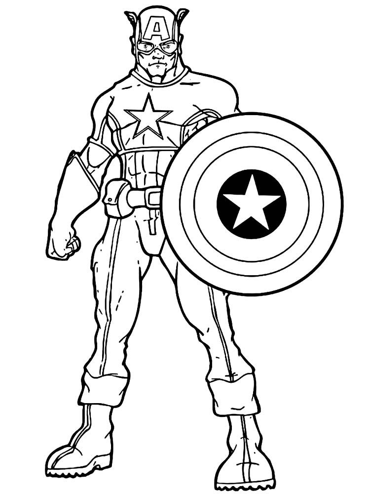 Captain America Infinity War Coloring Page